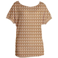 Gingerbread Christmas Women s Oversized Tee