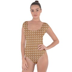 Gingerbread Christmas Short Sleeve Leotard