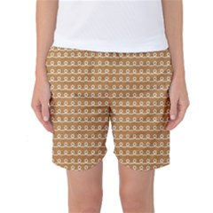 Gingerbread Christmas Women s Basketball Shorts