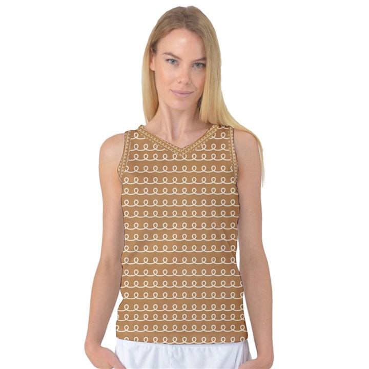 Gingerbread Christmas Women s Basketball Tank Top