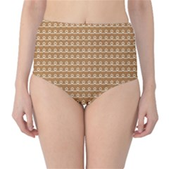 Gingerbread Christmas Classic High-Waist Bikini Bottoms