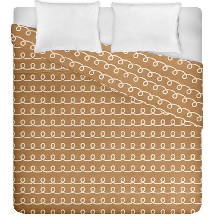 Gingerbread Christmas Duvet Cover Double Side (King Size)