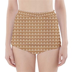 Gingerbread Christmas High-Waisted Bikini Bottoms
