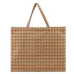 Gingerbread Christmas Zipper Large Tote Bag