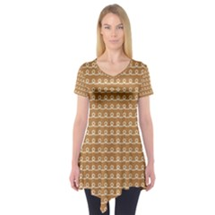 Gingerbread Christmas Short Sleeve Tunic