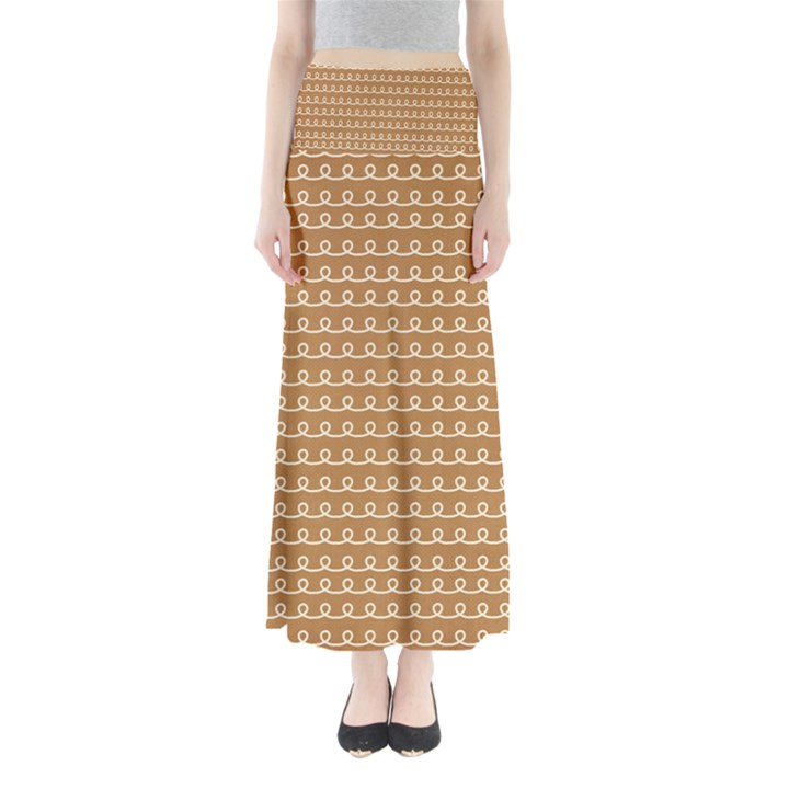 Gingerbread Christmas Full Length Maxi Skirt