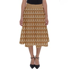 Gingerbread Christmas Perfect Length Midi Skirt