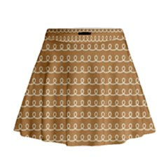 Gingerbread Christmas Mini Flare Skirt