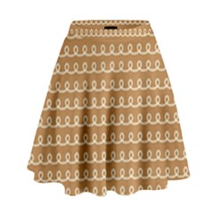 Gingerbread Christmas High Waist Skirt