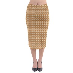 Gingerbread Christmas Midi Pencil Skirt