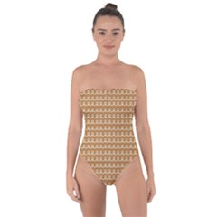 Gingerbread Christmas Tie Back One Piece Swimsuit