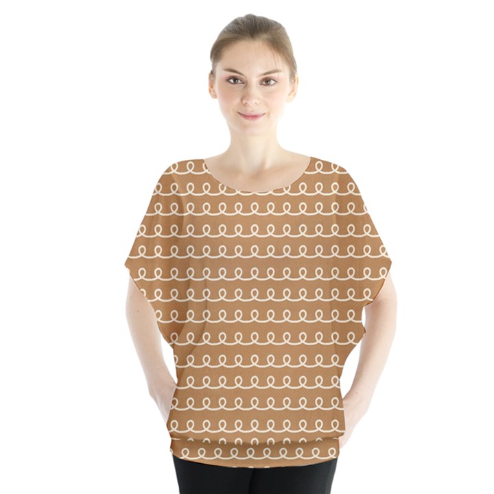 Gingerbread Christmas Blouse