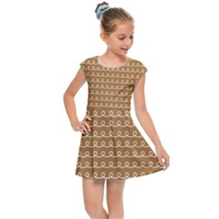 Gingerbread Christmas Kids Cap Sleeve Dress