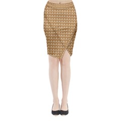 Gingerbread Christmas Midi Wrap Pencil Skirt