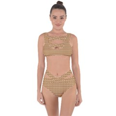 Gingerbread Christmas Bandaged Up Bikini Set