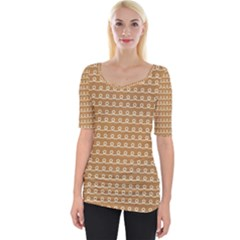 Gingerbread Christmas Wide Neckline Tee