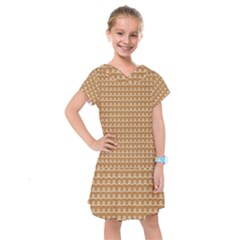 Gingerbread Christmas Kids  Drop Waist Dress