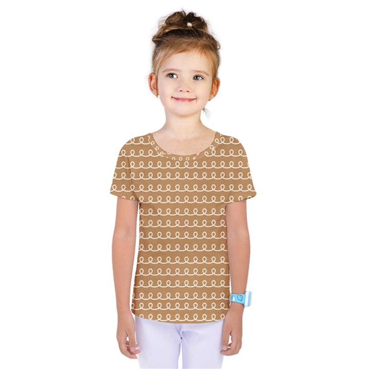 Gingerbread Christmas Kids  One Piece Tee