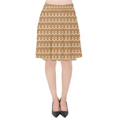 Gingerbread Christmas Velvet High Waist Skirt