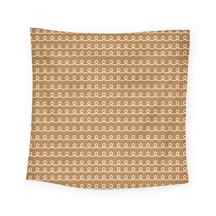Gingerbread Christmas Square Tapestry (Small)