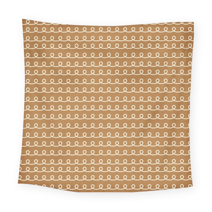 Gingerbread Christmas Square Tapestry (Large)