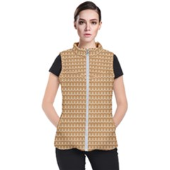 Gingerbread Christmas Women s Puffer Vest