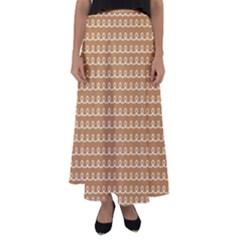 Gingerbread Christmas Flared Maxi Skirt