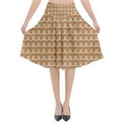 Gingerbread Christmas Flared Midi Skirt