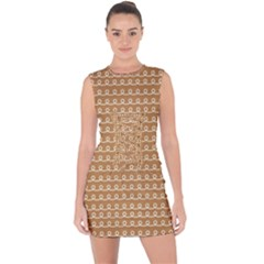 Gingerbread Christmas Lace Up Front Bodycon Dress