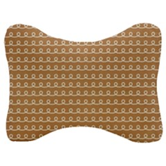 Gingerbread Christmas Velour Seat Head Rest Cushion