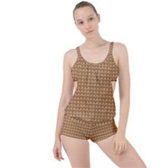 Gingerbread Christmas Boyleg Tankini Set