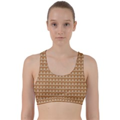 Gingerbread Christmas Back Weave Sports Bra
