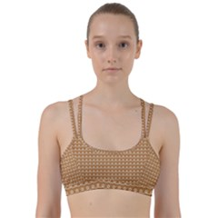 Gingerbread Christmas Line Them Up Sports Bra
