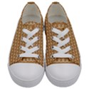 Gingerbread Christmas Kids  Low Top Canvas Sneakers View1