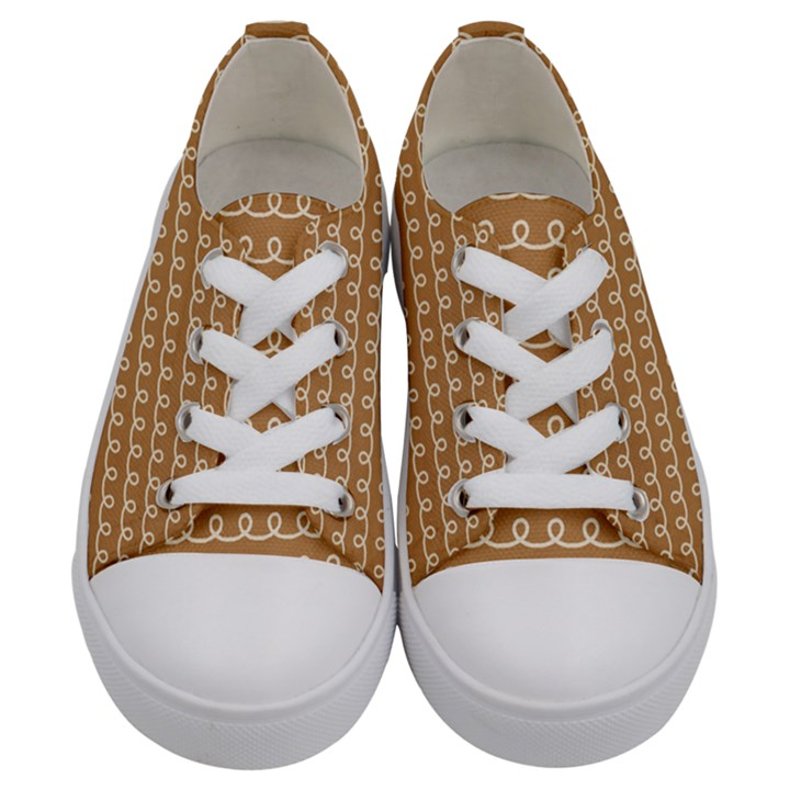 Gingerbread Christmas Kids  Low Top Canvas Sneakers