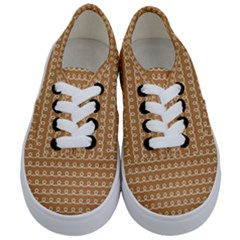 Gingerbread Christmas Kids  Classic Low Top Sneakers