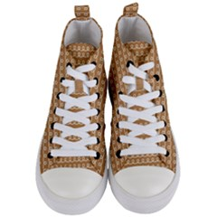 Gingerbread Christmas Women s Mid Top Canvas Sneakers