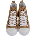 Gingerbread Christmas Women s Mid-Top Canvas Sneakers View1