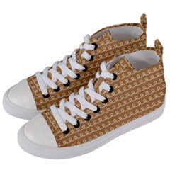 Gingerbread Christmas Women s Mid-Top Canvas Sneakers