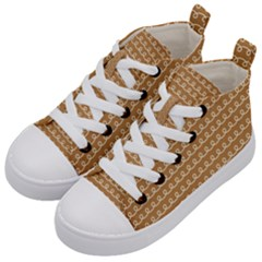 Gingerbread Christmas Kid s Mid-Top Canvas Sneakers