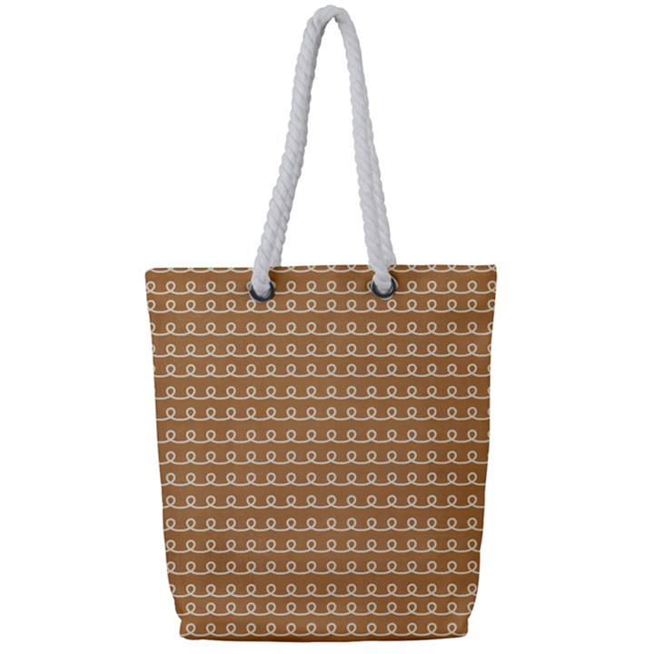 Gingerbread Christmas Full Print Rope Handle Tote (Small)