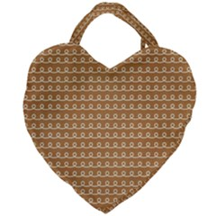 Gingerbread Christmas Giant Heart Shaped Tote