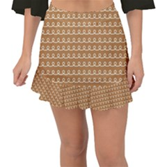 Gingerbread Christmas Fishtail Mini Chiffon Skirt