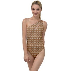 Gingerbread Christmas To One Side Swimsuit