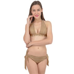 Gingerbread Christmas Tie It Up Bikini Set