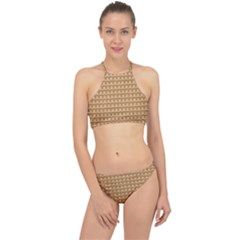 Gingerbread Christmas Racer Front Bikini Set