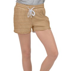 Gingerbread Christmas Women s Velour Lounge Shorts