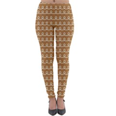 Gingerbread Christmas Lightweight Velour Leggings