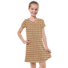 Gingerbread Christmas Kids  Cross Web Dress