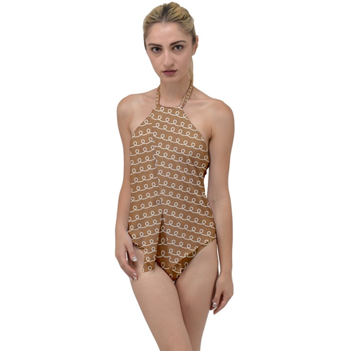 Gingerbread Christmas Go with the Flow One Piece Swimsuit